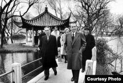 Richard NIxon rompió el hielo con China en febrero de 1972. En la foto con el premier Chou-Enlai.