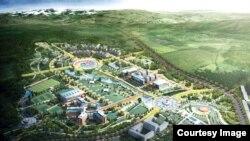 Simulación del proyecto de Ciudad del Conocimiento en Yachay.