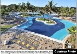 El Daily Mail británico reportó la intoxicación de 18 turistas en el hotel Playa Pesquero de Holguín.