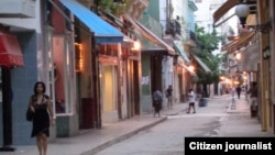 Reporta Cuba. Calle donde está la casa de Servando Cabrera. Foto: Bárbara Fernández.