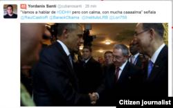 Reporta Cuba. Desde la Cumbre, en Twitter de @yordanisanti.