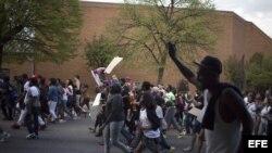 Protestas en Baltimore.