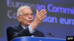 El jefe de la diplomacia europea Josep Borrell. Olivier HOSLET / POOL / AFP