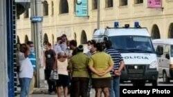Asedio a la sede del Movimiento San Isidro, en La Habana Vieja (Tomado de Facebook de Leo Fernández).