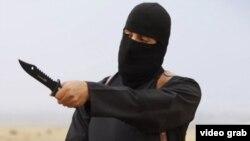 Jihadi John, el verdugo británico de Estado Islámico, antes de uno de sus crímenes.