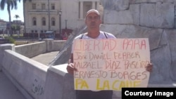 Luis Enrique Santos Caballero pide la libertad de José Daniel Ferrer frente al Tribunal Popular de Santa Clara.
