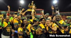 El equipo de béisbol de Pinar del Río.