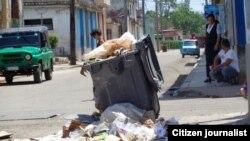 Reporta Cuba. La basura en Santiago de las Vegas. Foto: Misael Aguilar.