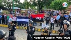 El FSLN, partido del presidente Daniel Ortega, está en el poder en Nicaragua desde 2007. Foto Houston Castillo, VOA.