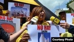 Bajo la etiqueta #NoHay, venezolanos exponen los alimentos en falta o escasos en el pais.