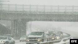 Tormenta invernal en Denver, Colorado.