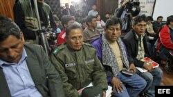 Delegados policiales en las negociaciones de Bolivia