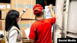 Entrega de insumos y suministros médicos a Hospital de Caracas.