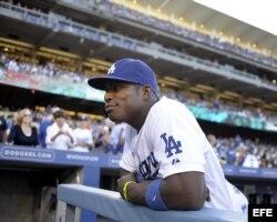 El jugador Yasiel Puig de los Dodgers de Los Ángeles.