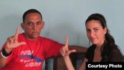 Rosa Maria Paya y Rolando Rodriguez Lobaina