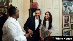 Obama en paladar de La Habana