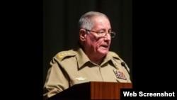 General Alvaro López Miera, nuevo ministro cubano de Defensa. (Captura de foto/Ecured)