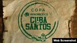 Cuba vs Santos de México en el estadio Pedro Marrero de La Habana.