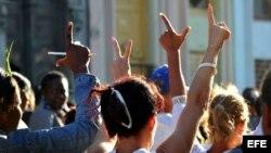 Pobladores de La Lisa muestran repudio a represión contra opositores