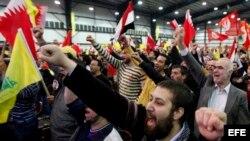 Seguidores de Hezbollah.