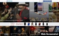 Imagen de la página de inicio de CiberCuba.