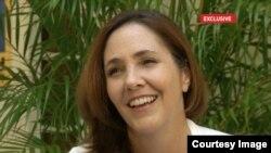 Mariela Castro en un momento de la entrevista con CCTV.