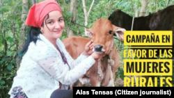 Aimara Peña, en Sancti Spíritus, es la impulsora de la campaña por las mujeres rurales en Cuba. (Imagen de Alas Tensas).