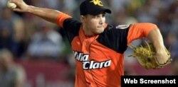 Norge Luis Ruiz, lanzador cubano.