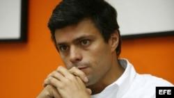 El coordinador nacional de Voluntad Popular, Leopoldo López.