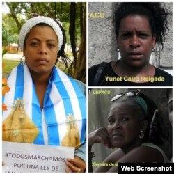 Mujeres en la cárcel por ejercer su derecho a la libre expresión