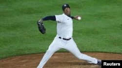 Aroldis Chapman en un juego contra los Astros de Houston. Brad Penner-USA TODAY Sports