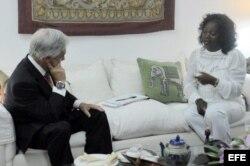 Sebastián Piñera se reunió con la líder de las Damas de Blanco, Berta Soler.