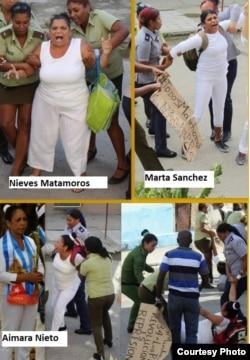 Varias Damas de Blanco permanecen presas por razones políticas