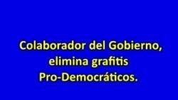Opositores escriben grafitis en las calles de Palma Soriano