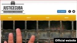 Sitio en internet de Justice Cuba.