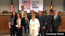 Representantes de la sociedad civil cubana en la CIDH. Lunes 1ro de octubre, 2018 (Redes sociales).