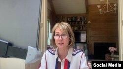 La embajadora de EEUU en la ONU, Kelly Craft en una de las sesiones online del Consejo de Seguridad