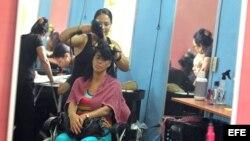 Salón de peluquería de la cooperativa Bella II, en La Habana. Archivo.