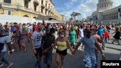 Levantamiento popular en Cuba el 11J. (REUTERS/Stringer).