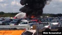 Accidente aéreo en el que murieron familiares de Osama bin Laden en Inglaterra.