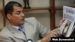 El gobierno de Rafael Correa usa la Ley Orgánica de Comunicación para censurar a la prensa, denuncia la SIP.