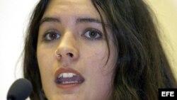 Imágen de archivo de la estudiante chilena Camila Vallejo