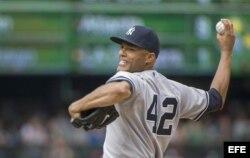 El lanzador de los Yankees, Mariano Rivera.