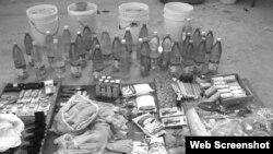 Brochas, paquetes de pilas, jabones de baño, resistencias de hornillas, bombillas ahorradoras, aceite de cocina, azúcar, ron, lápices, estropajos metálicos, bolsas de leche en polvo y varillas de soldar confiscadas.