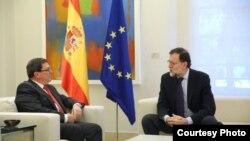 Bruno Rodríguez y Mariano Rajoy.