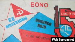 Un bono de domingo rojo era el premio por trabajar sin pago el día libre.