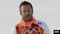Bode Miller recibe la medalla de bronce en la modalidad de esquí alpino (Sochi 2014).