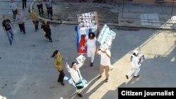 Represión contra Damas de Blanco en La Habana. (Foto: Angel Moya)