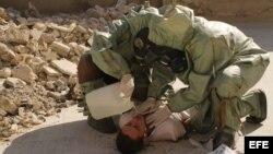 Fotografía facilitada por NEUPIC.Forman a 26 personas para que ayuden en caso de ataque con armamento químico.