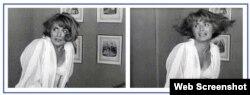 Fotogramas de una de las escenas de la actriz española en Memorias del subdesarrollo. (Tomado del blog de Yolanda Farr)